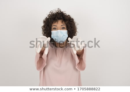 Doctor with open mouth pointing finger up. Stock photo © RAStudio