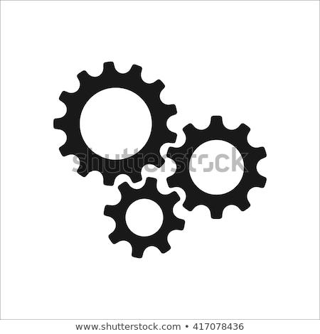 Gear Wheel Flat Circle Icon Stock photo © Anna_leni