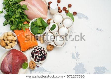 Gıda yüksek protein yumurta et yaşam tarzı Stok fotoğraf © M-studio