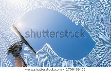 limpador · de · janelas · vetor · silhueta · homem · limpeza - foto stock © cteconsulting