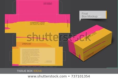 Amarelo papel caixa produto acondicionamento dom Foto stock © dezign56
