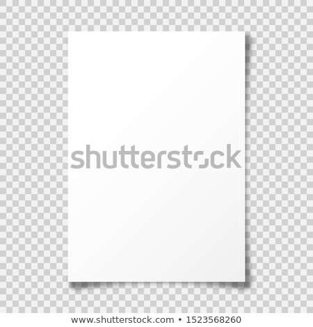 blank white 3d paper canvas vector empty paper sheet illustration with shadow stock photo © pikepicture