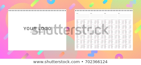 grade · calendário · ilustração · vetor · formato · projeto - foto stock © swillskill