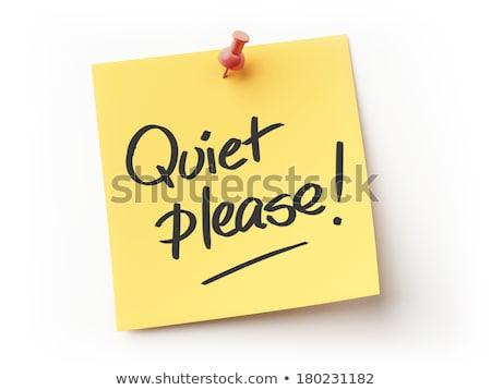 Please be quiet, Thanx message sign Stock photo © stevanovicigor