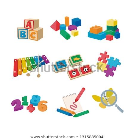 Bellek oyun çocuklar geometri öğrenme Stok fotoğraf © Olena