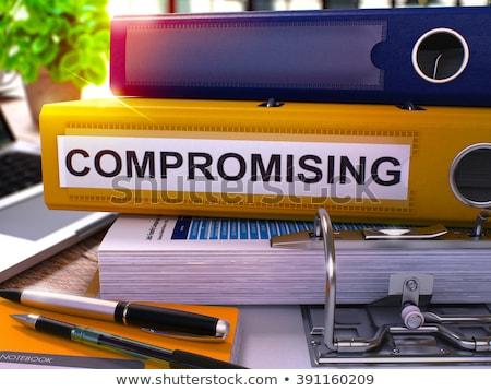 compromising materials on binder blurred image 3d stock photo © tashatuvango