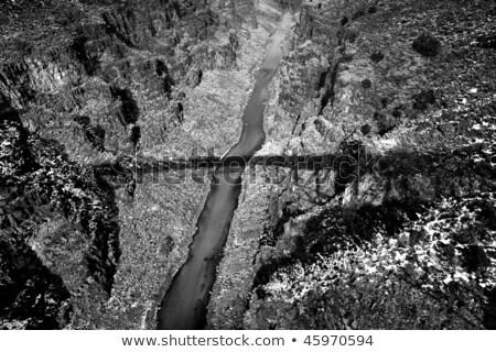 Black White Rio Grande River Gorge New Mexico Stock photo © Qingwa