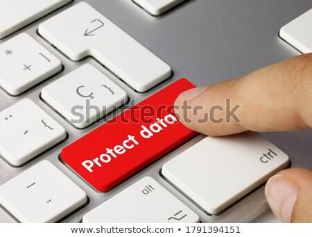 Cyber Security - Written on Red Keyboard Key. Stock photo © tashatuvango