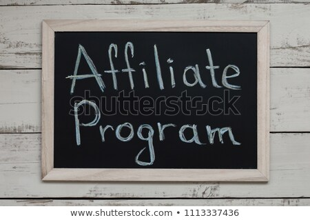 Stockfoto: Referral Marketing Handwritten By White Chalk On A Blackboard