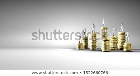 kosten · voordeel · analyse · teken · Blauw - stockfoto © tashatuvango