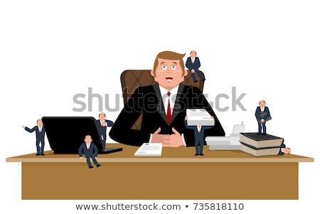 Boss and helpers. Businessman and Business Consultant. Boss desk Stock photo © popaukropa