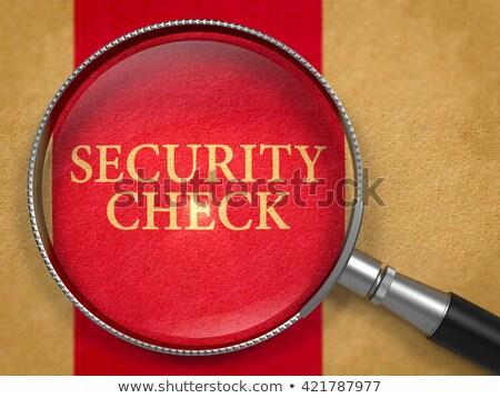 Sicherheit überprüfen Lupe Altpapier dunkel rot Stock foto © tashatuvango