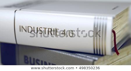 Libro título espina industria 40 negocios Foto stock © tashatuvango