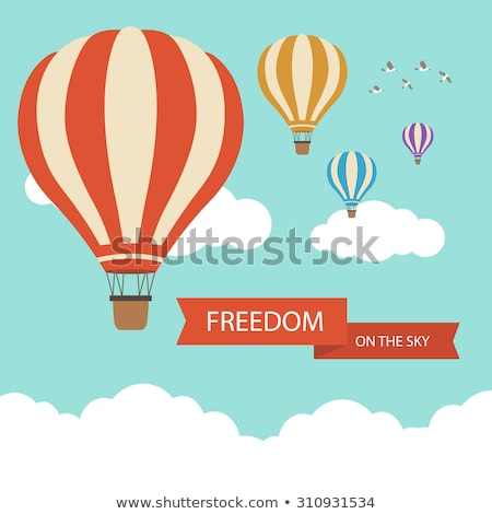 hot air balloon in clouds vector. Stock photo © MarySan