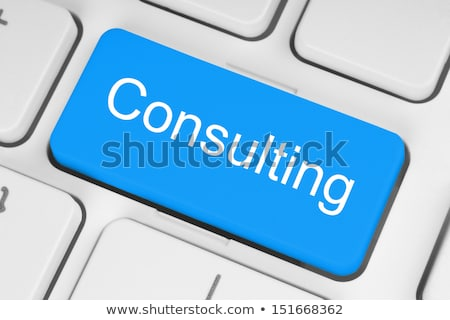 Keyboard with Blue Button - Technology Consultant. Stock photo © tashatuvango