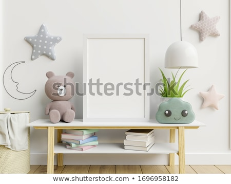 Kid Boy Space Poster Bedroom Stock photo © lenm