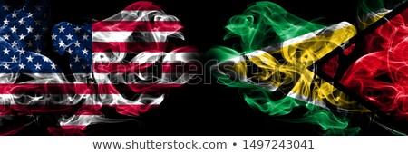Futball lángok zászló Guyana fekete 3d illusztráció Stock fotó © MikhailMishchenko