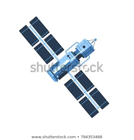 のGPS ·  · 衛星 · 現代 · コミュニケーション · スペース · 軌道 - ストックフォト © vectorworks51