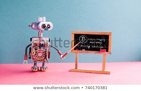 Blackboard valuta bitcoin les school grijs Stockfoto © romvo
