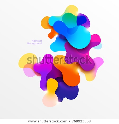 abstract fluid colors poster template in wavy style Stock photo © SArts