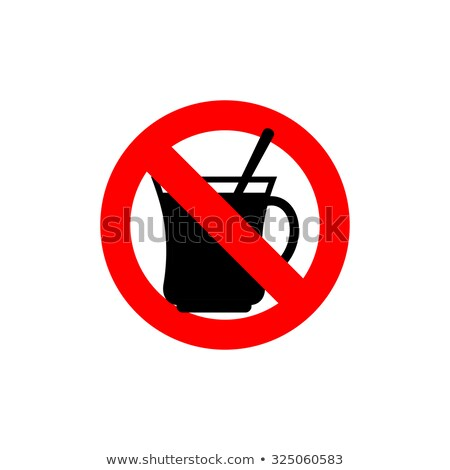 Stop coffee. It is forbidden to drink morning cup. Frozen drink  Stock photo © popaukropa