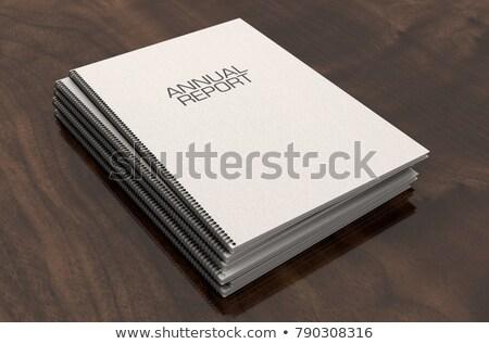apresentação · folheto · arame · documentos · sala · de · reuniões - foto stock © albund