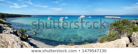 Ufer blau Zypern Sommer Reise Sand Stock foto © Mps197