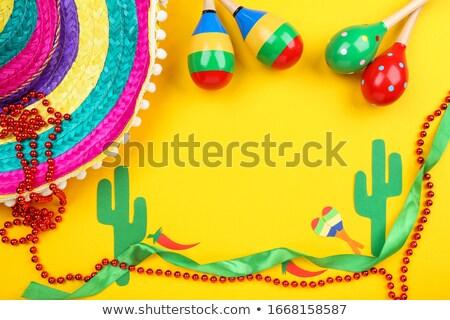 Cacto mexicano seis amarelo ilustração Foto stock © bluering