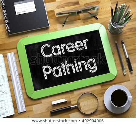 career planning on small chalkboard 3d stock photo © tashatuvango