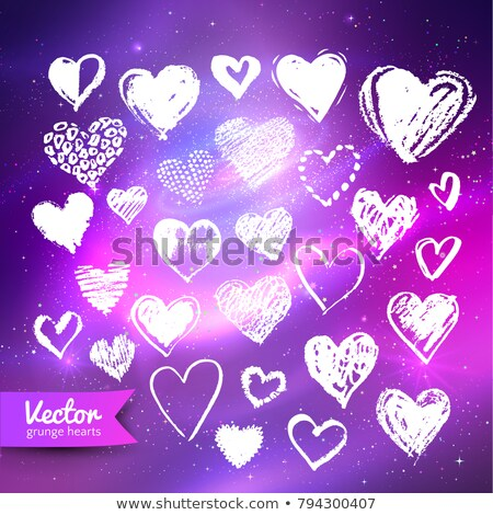 Heart shape with ultraviolet outer space Stock photo © Sonya_illustrations