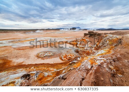 Soil erosion in the Namafjall geothermal valley in Iceland Stock photo © Kotenko