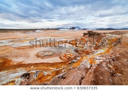 Suelo erosión valle Islandia fantástico paisaje Foto stock © Kotenko