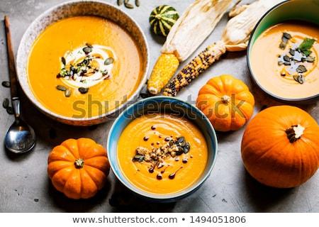 пару · кегли · органический · сквош · суп · чаши - Сток-фото © mpessaris