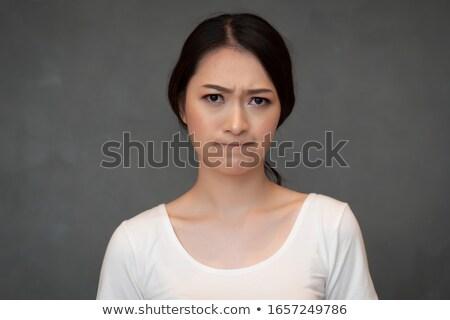 cabeza · tiro · mujer · cara · retrato · emoción - foto stock © is2