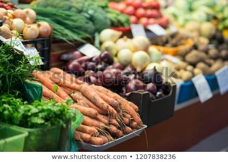 Legumes frescos venda mercado asiático comida rua Foto stock © kenishirotie
