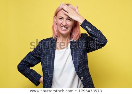 Frustrated hand on forehead  Stock photo © stevanovicigor