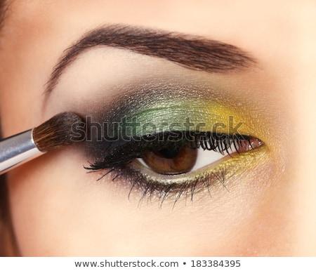 Beautiful girl verde enfumaçado olhos belo mulher jovem Foto stock © svetography