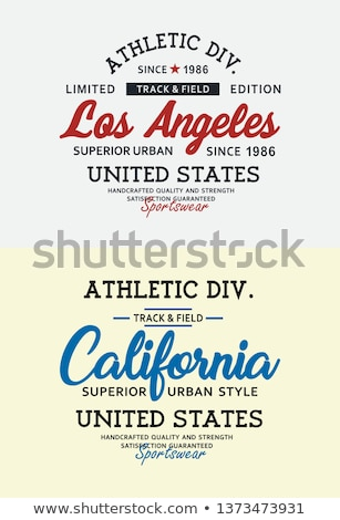 los angeles united states of america varsity Stock photo © vector1st