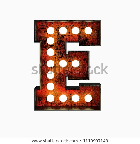 Letter E 3D Broadway Style Stock photo © creisinger