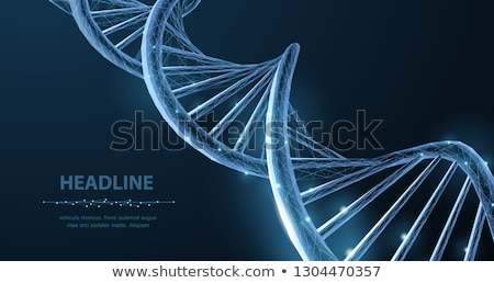 3d illustration of abstract DNA blue helix isolated. Stock photo © anadmist