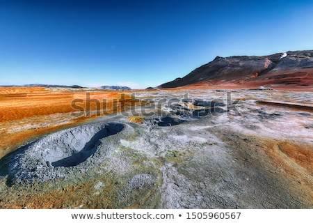 geothermal area namafjall with steam eruptions iceland europe stock photo © kotenko