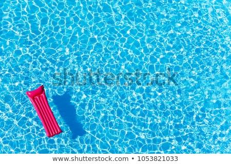 üres · úszómedence · kék · csempézett · tavasz · építkezés - stock fotó © is2