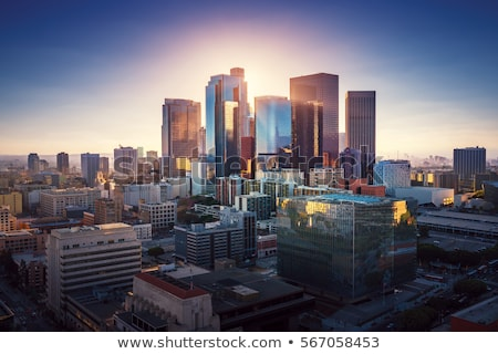 sunset over los angeles california usa stock photo © is2