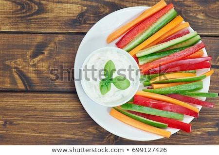 Foto d'archivio: Vegetable Stick And Sauce