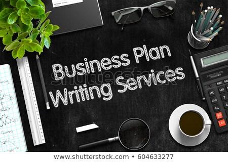 small business ideas on black chalkboard 3d rendering stock photo © tashatuvango
