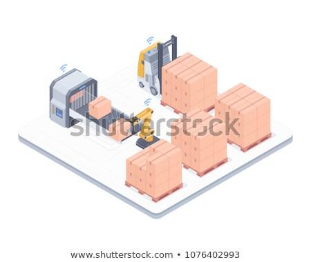 Automated packing system isometric illustration Stock photo © RAStudio