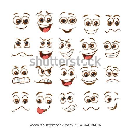 öröm arc rajzfilmfigura illusztráció izolált fehér Stock fotó © hittoon