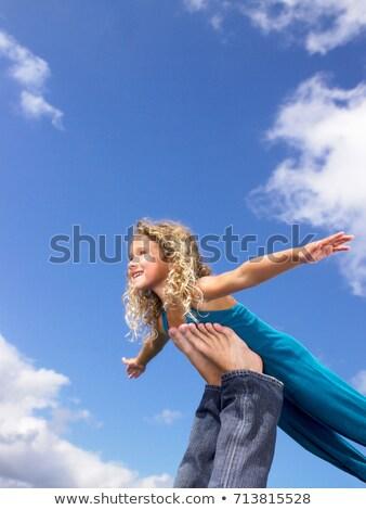 Picioare aer cer distracţie Blue Sky Imagine de stoc © IS2