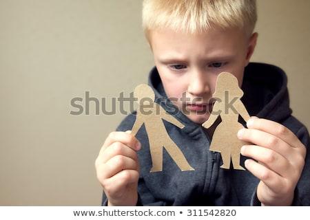 çocuk erkek gözaltı ebeveyn savaş örnek Stok fotoğraf © lenm