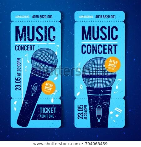 Сток-фото: музыку · концерта · билета · дизайн · шаблона · микрофона · Cool
